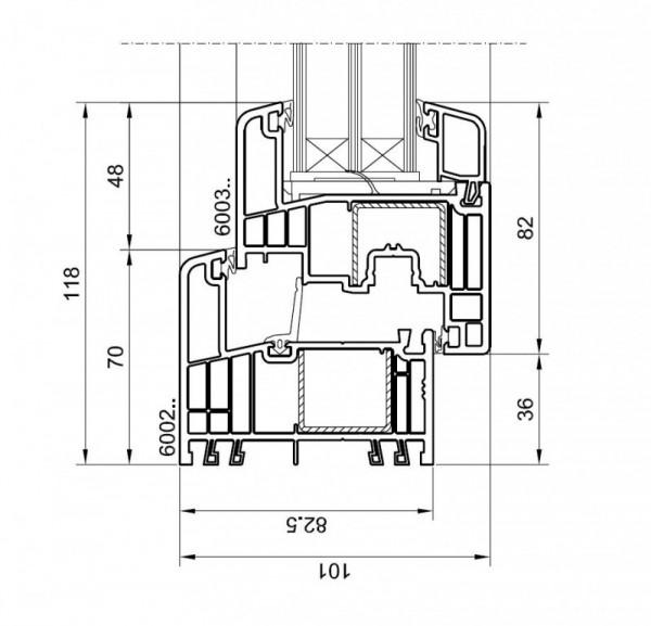 Gealan S9000 lango brezinys