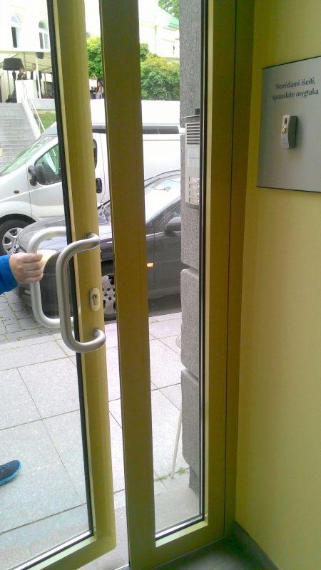 lauko durys apdaila